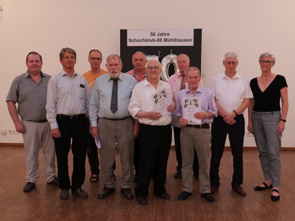 An diesem Abend wurden Mitglieder geehrt, die schon über 50 Jahre dem Verein treu sind.