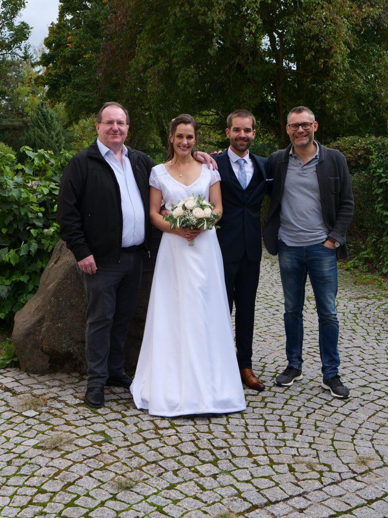 Gerhard Kretz, Janine Antoni-Seiferling, Daniel Seiferling, Jochen Knopf (v.l.).